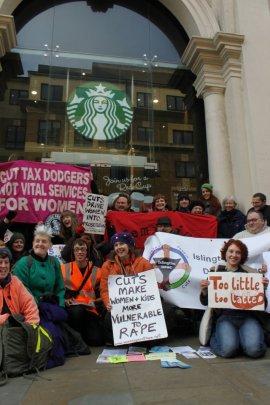 Angel branch of Starbucks during occupation, Saturday 8/12/2012 - Photo credit: Ben Robinson