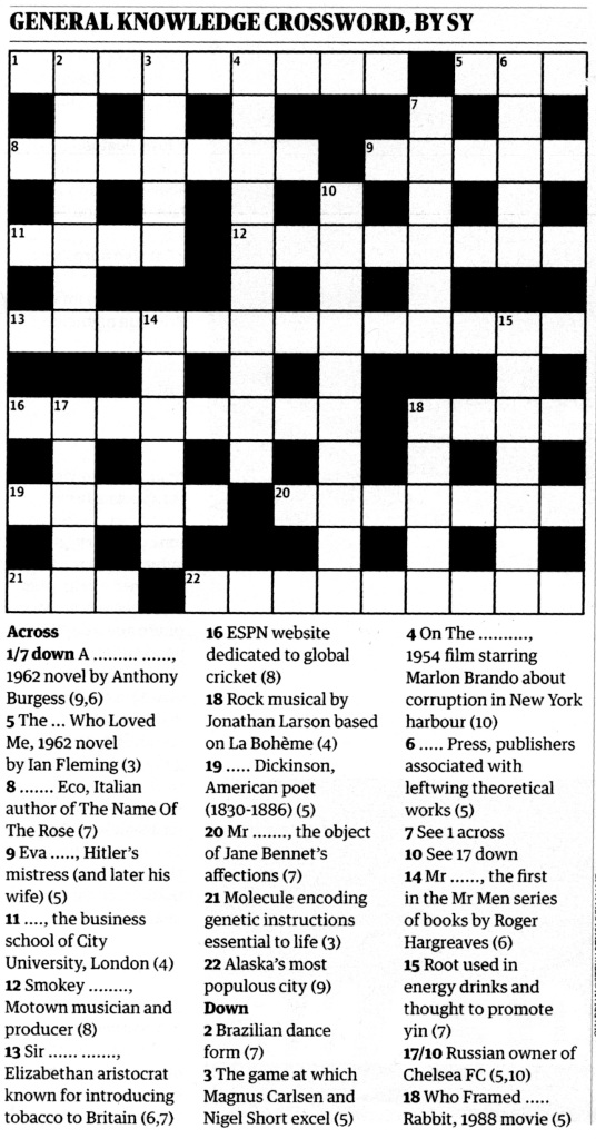 Guardian Crossword 18May13