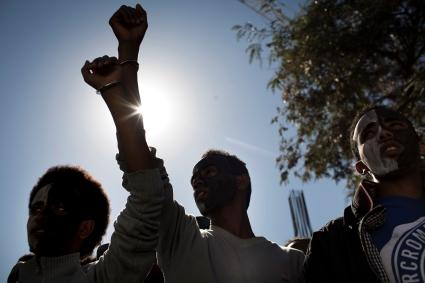 African asylum seekers protest, Tel Aviv, Israel, 13.2.2014